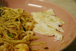 Picture of dish - Grilled dabs and noodles.