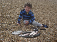 Picture of Alex with his haul
